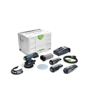 Аккумуляторная эксцентриковая шлифовальная машинка Festool ETSC 125 Li 3,1 I-Set