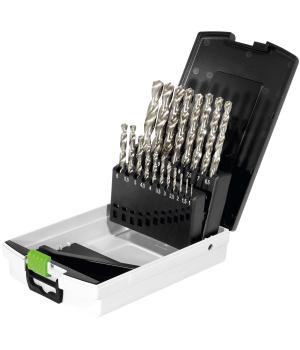 Сверла CE Festool комплект из 19 шт. с держателем в кассете SBKS-HSS D 1-10