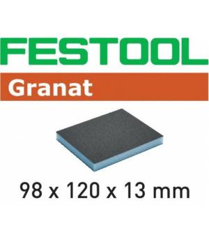 Губка шлифовальная Festool Granat 120, компл. из 6 шт. 98x120x13 120 GR/6